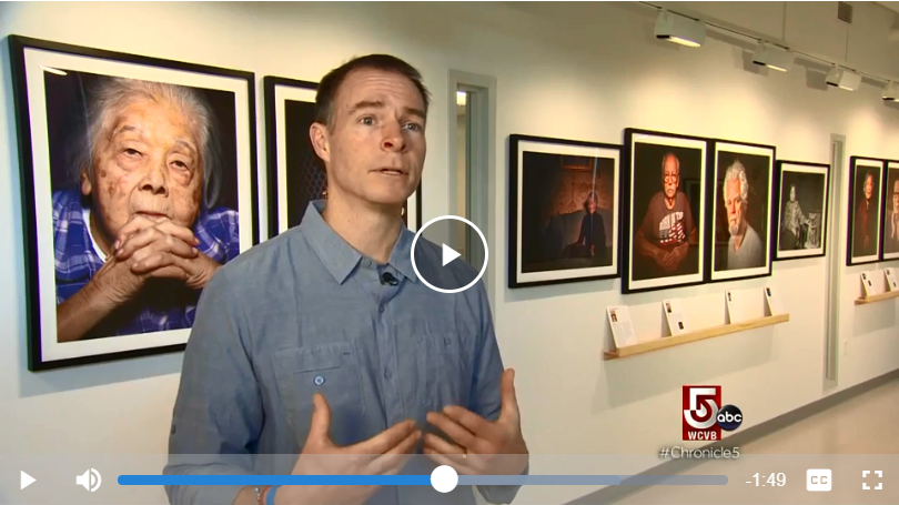 Joe Wallace Discusses Portraits of Dementia Exhibit in WCVB Interview
