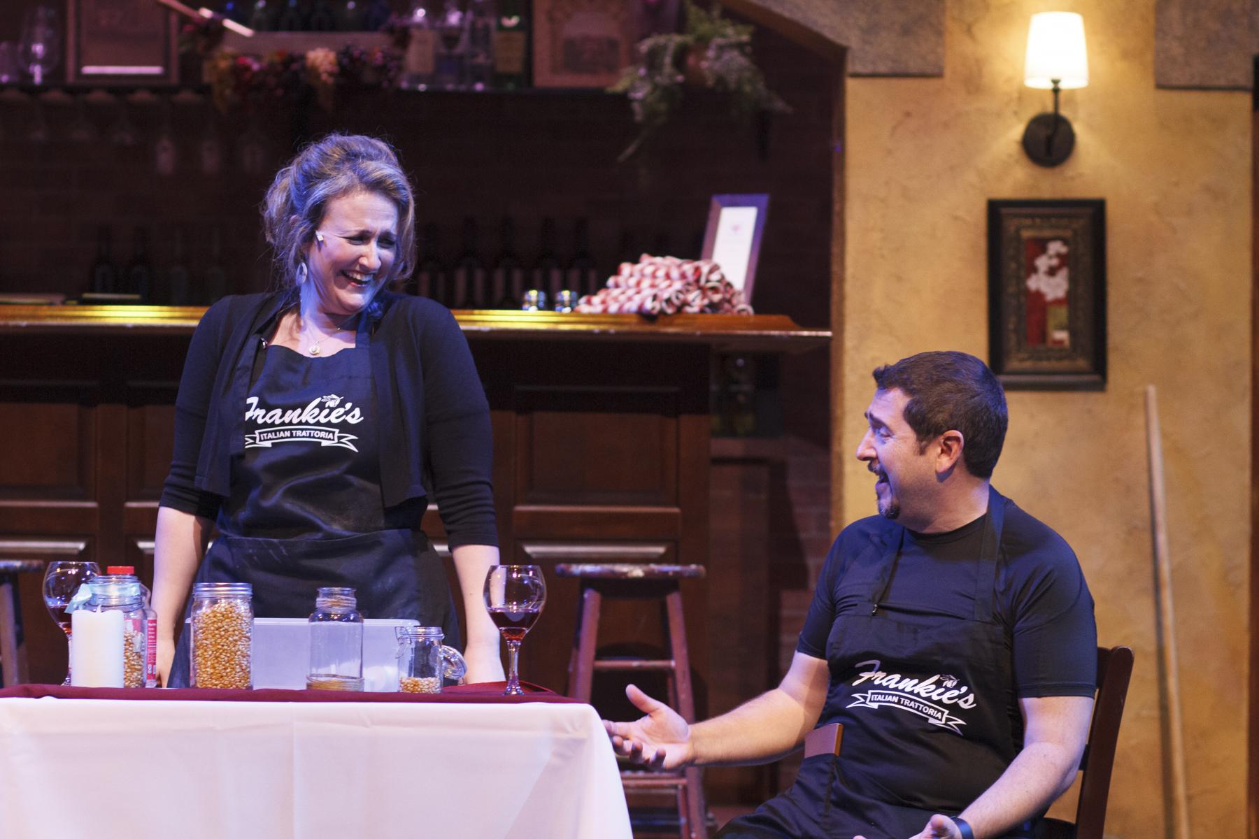Rebecca Shor and Ethan Butler as Lina and Roberto. Photo Gillian Mariner Gordon