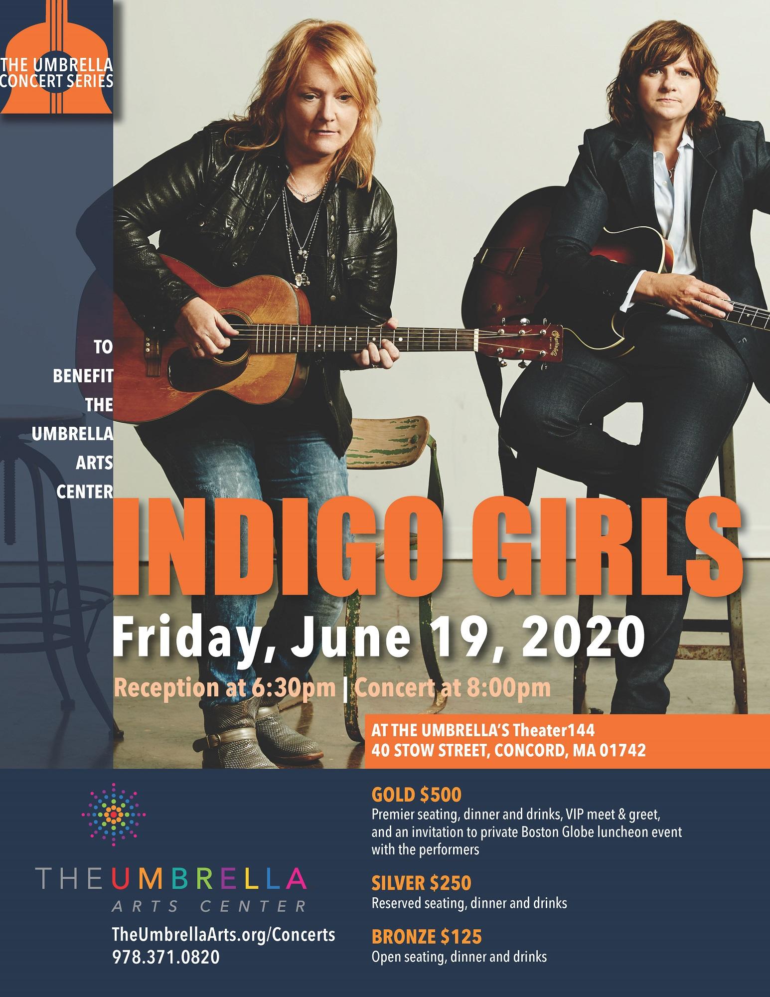 Indigo Girls Benefit Concert for The Umbrella  Poster