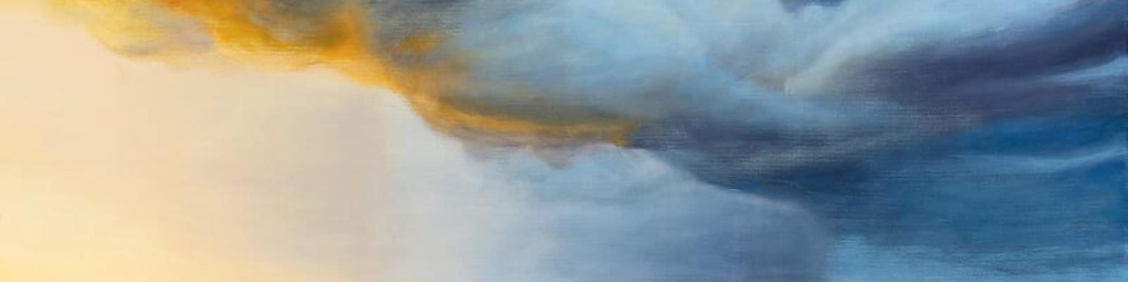 Anne Denna painting of a storm