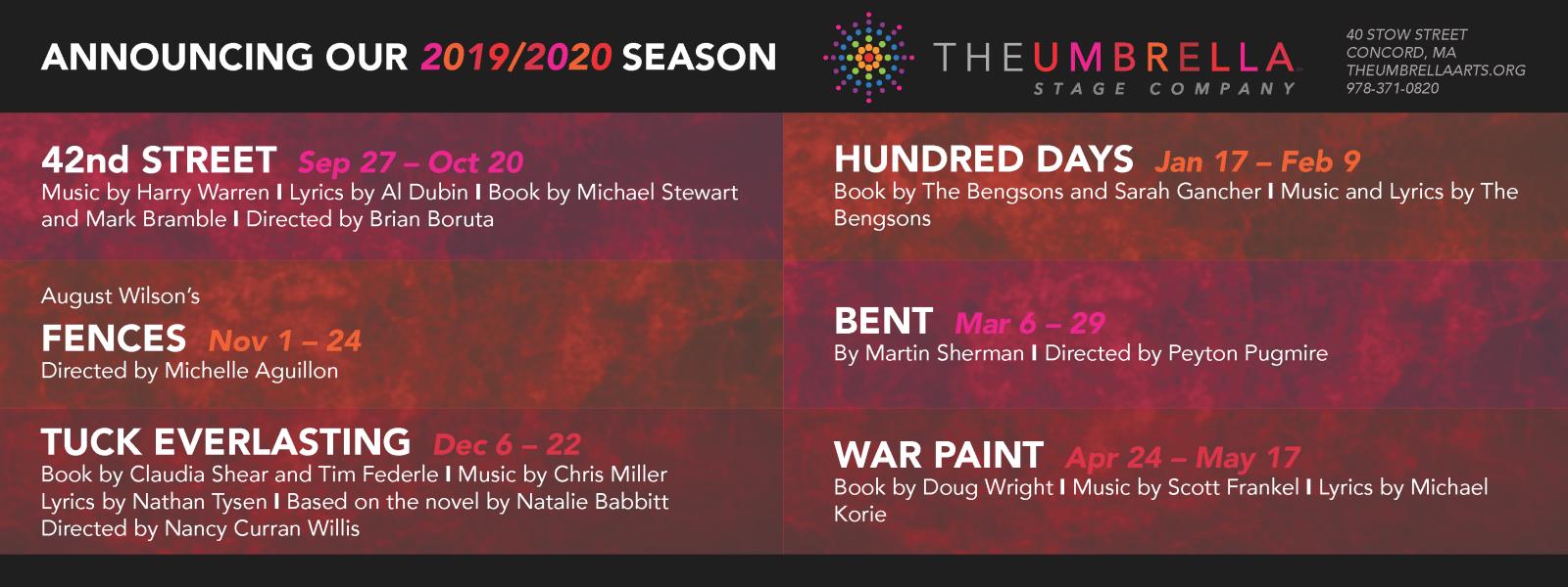 Stage Company Season 12 - 2019/2020