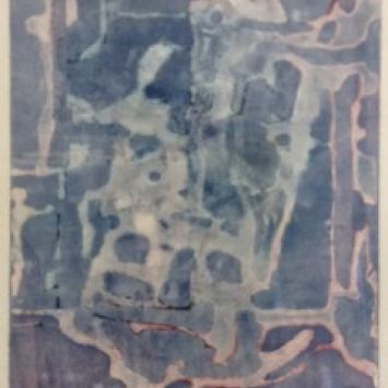 "Ilse Plume, ""Dream Labyrinth,"" framed monoprint (10"" x 8"")"