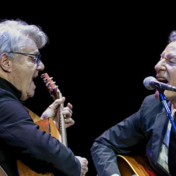 Steve Miller and Lyle Lovett by Jim Sabitus
