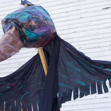 Caw the Crow: Help Caw lift his sagging spirits by giving him a much-needed face and feather-lift.  Requires 3 people of carry.