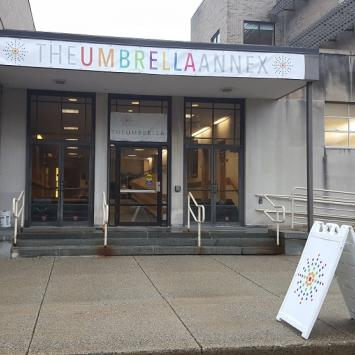 The Umbrella Annex Entrance