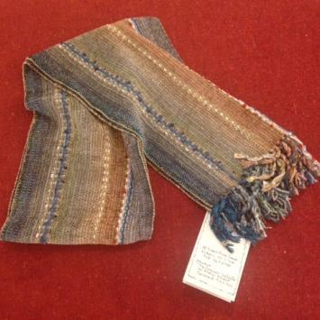 "Barbara Willis, ""Van Gogh, Self Portrait of the Artisit,"" hand woven chenille scarf"