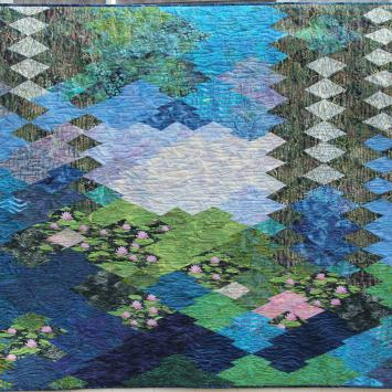 Monet Quilt by Cathy Papazian - Earth Month 2020 Exhibition