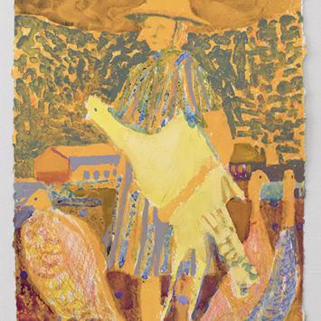 Elizabeth King - Turkey Enthusiast colorful painting