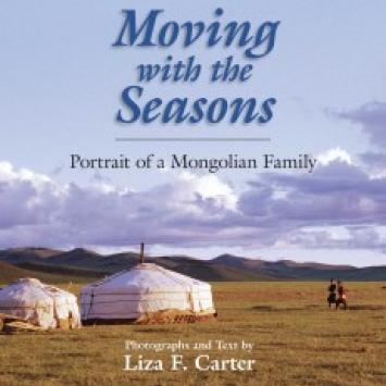"""Liza Carter, """"Moving with the Seasons: Portrait of a Mongolian Family,"""" signed"""