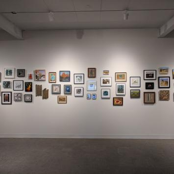 Gallery show with small works