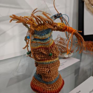 Woven fiber sculpture
