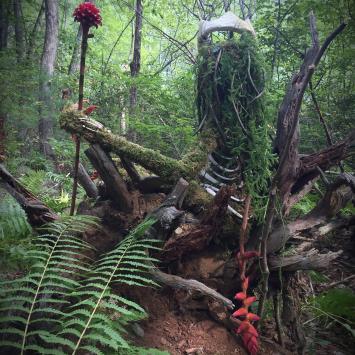 Nature sculpture shaman