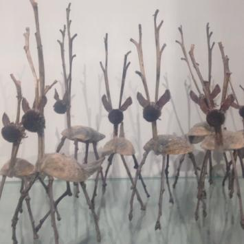 "Jeannie Abbott, ""Deer,"" natural materials"