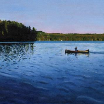 Louise Arnold - Caspian Lake Early Morning painting