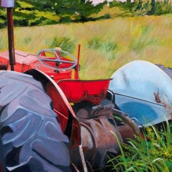 Louise Arnold - Old Massey painting of a tractor