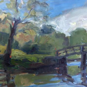 Old North Bridge - by Lois Andersen