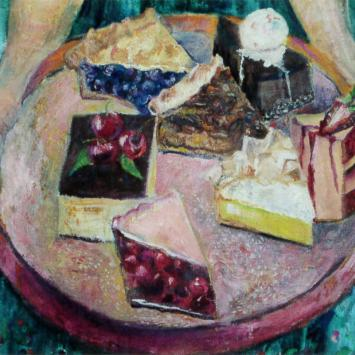 Pie Lady (detail), Oil on Canvas by Ann Emerson, 2008, 24 x 34