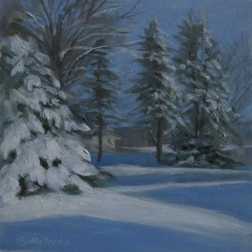 Susanne Meterko Sunshine After Snow Painting
