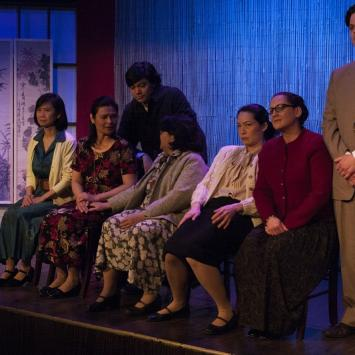 Rehearsal photo from The Joy Luck Club