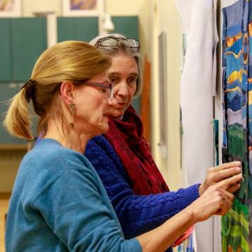 Quilting artist and teacher Tica de Moor of the Umbrella Arts