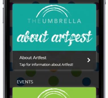 Screen Image of The Umbrella Artfest App